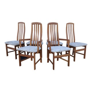 21st Century Modern High Back Dining Chairs- Set of 6 For Sale