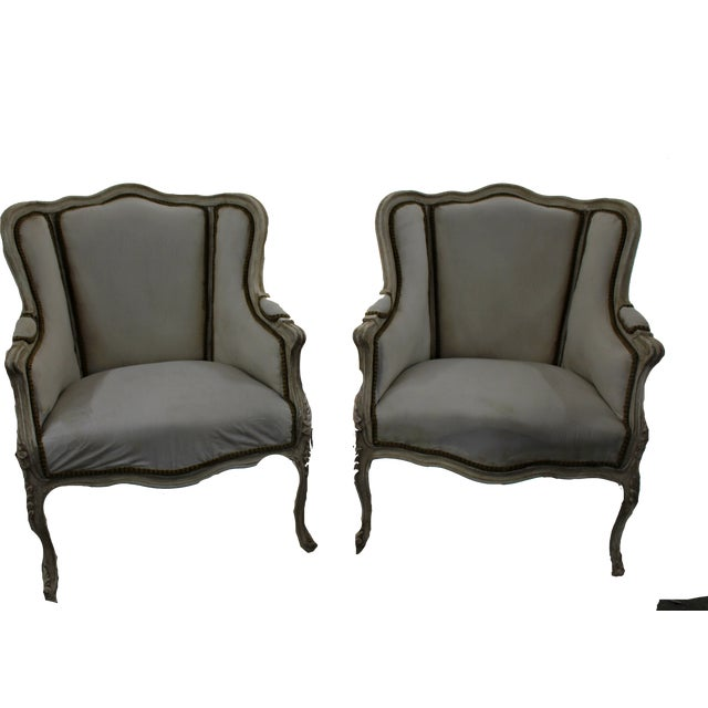 Early 20th Century Anrique French Bergère Chairs - A Pair For Sale - Image 9 of 9