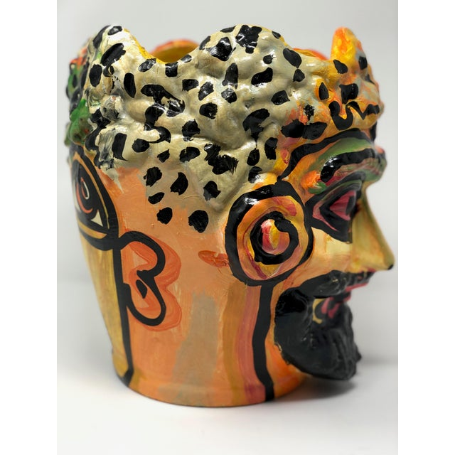 """Clay 1980s Abstract """"Pot"""" by Peter Keil For Sale - Image 7 of 9"""