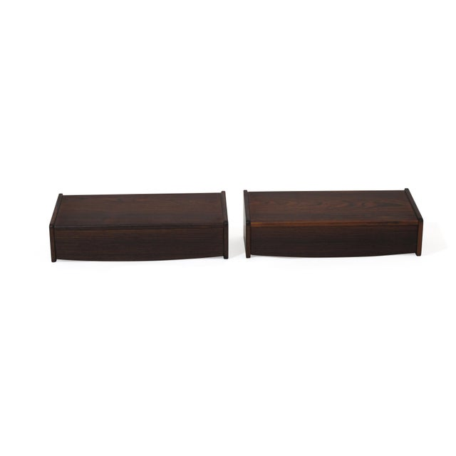 Pair of Floating Danish Rosewood Tables With Drawers For Sale - Image 9 of 9