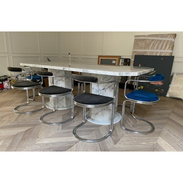 Stone Arabescato Marble Dining Table For Sale - Image 7 of 8