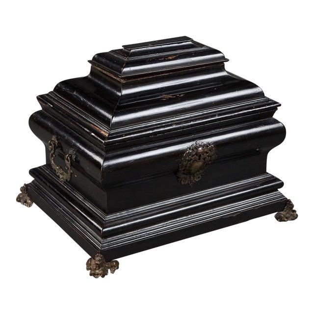 "An Imposing Ebonized Italian Wooden Baroque ""Coffretti"" For Sale"