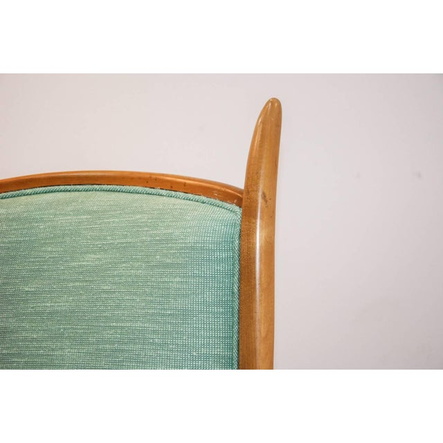 1950s 1950's Maxwell Royal American Designed High Back Upholstered Chairs - a Pair For Sale - Image 5 of 8