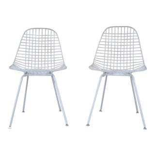 Herman Miller for Eames Dkx Wire Chairs- a Pair For Sale