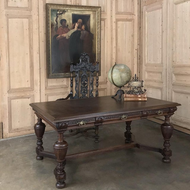19th Century French Renaissance Desk ~ Bureau Plat is an exceptional choice for the 21st century office or study, because...
