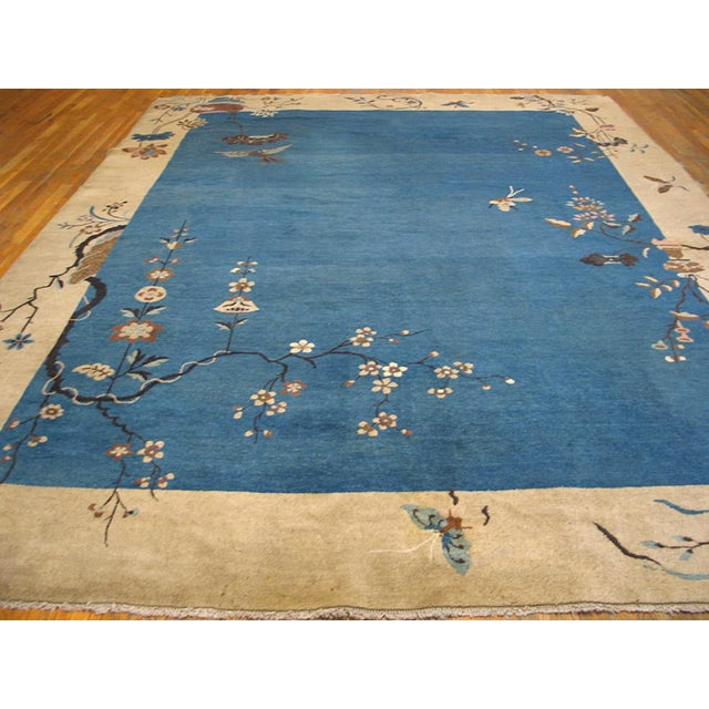 "1920s 1920s Chinese Art Deco Rug - 9'x11'10"" For Sale - Image 5 of 9"