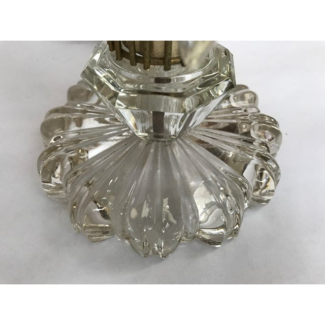 Vintage Art Deco Crystal Chandelier Lamps - A Pair - Image 4 of 10