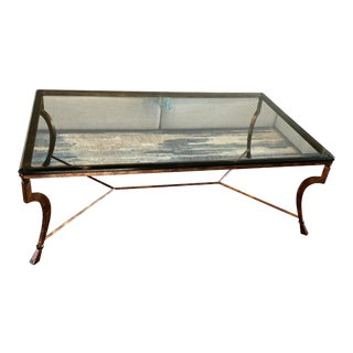 Swaim European Bronze & Glass Cocktail Table