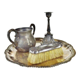 Silver Plate Vanity Pieces - Set of 4 For Sale