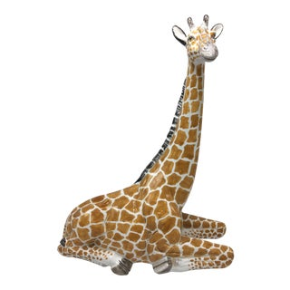 Italian Ceramic Giraffe Figurine For Sale