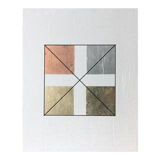 Modern Gilded Squares - Textural Painting 30 40