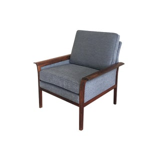 Mid-20th Century Danish Modern Rosewood Armchair by Han Olsen For Sale
