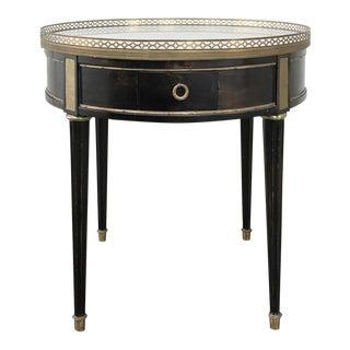 19th Century Napoleon III Period Ebonized Marble Top Gueridon Table For Sale