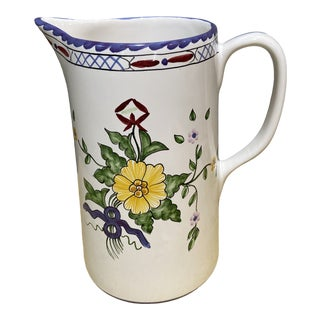 Vintage Tiffany & Co. Lisbon Portugal Small Hand-Painted Pitcher For Sale