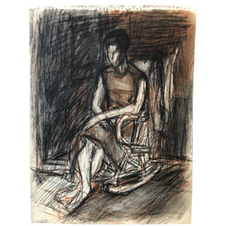 1960's Vintage Oil Pastel & Pencil Figurative Nyc Artist For Sale