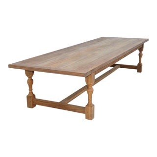 Teak Indoor or Outdoor Dining Table For Sale