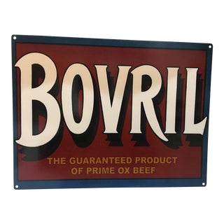 Reproduction English Tin Advertising for Bovril