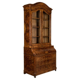 19th Century French Secretaire Bookcase Scriban For Sale