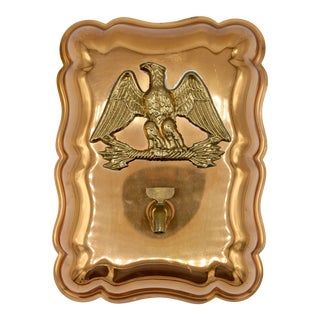 Vintage Federal Eagle Copper Mold Wall Mount For Sale