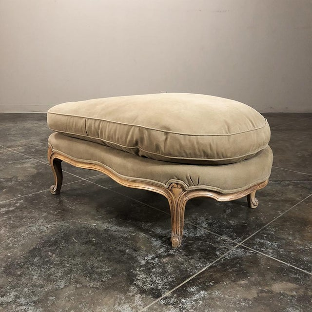Antique Country French Fruitwood Bergere - Chaise Longue For Sale In Baton Rouge - Image 6 of 13