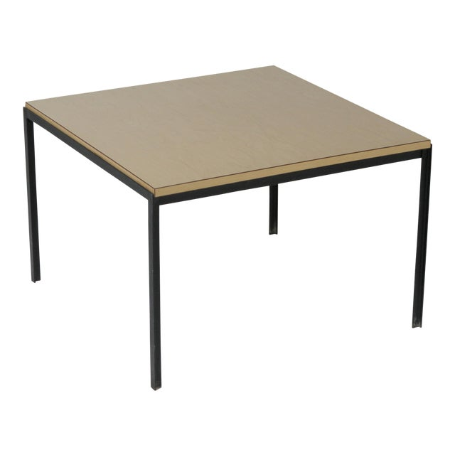 1950s Mid-Century Modern Florence Knoll T Angle Table With a Birch Laminate Top For Sale