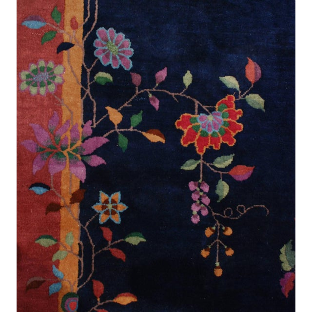"""Chinese Art Deco Rug - 73"""" x 105"""" For Sale - Image 4 of 5"""