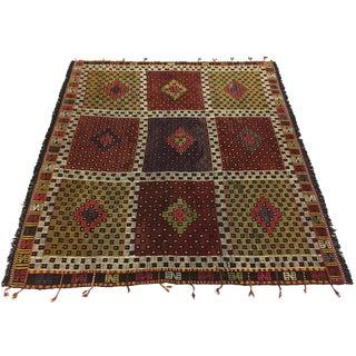 Vintage Turkish Embroidered Kilim | 5'5 X 5'7