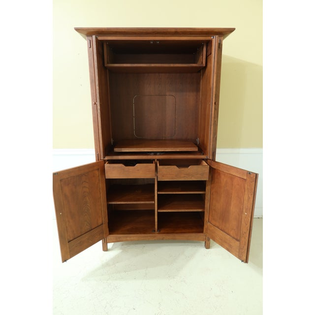 Wood Stickley Arts & Crafts Mission Cherry Tv Armoire For Sale - Image 7 of 13