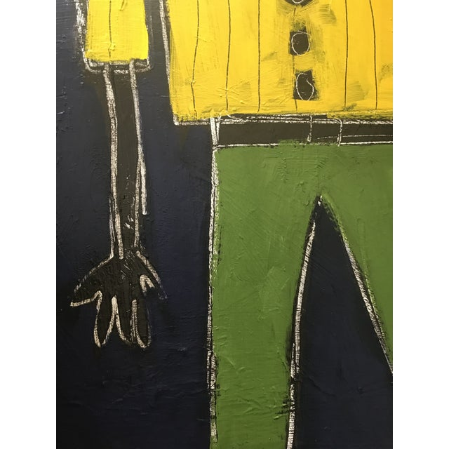 """""""Stride"""" Contemporary Abstract Figure Painting by Sarah Trundle For Sale - Image 6 of 7"""