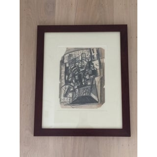 Abstract Charcoal Drawing by Irving Lehman Preview