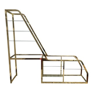 20th Century Hollywood Regency Expandable Etagere For Sale