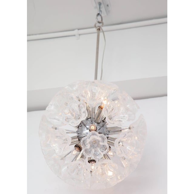 Italian Floral Glass Sputnik Chandelier For Sale - Image 9 of 11