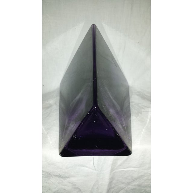LSA Poland Art Glass Amethyst Purple Vase For Sale In Sacramento - Image 6 of 6