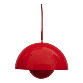 Mid-Century Verner Panton Flowerpot Pendant Light for Louis Poulsen, Denmark For Sale