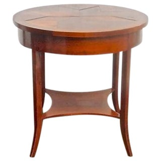 Vintage Niermann Weeks Round Side Table For Sale