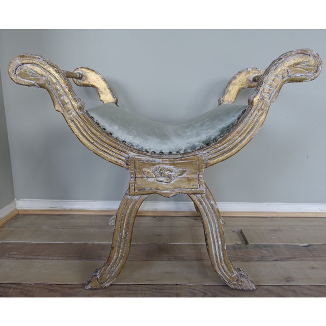 Italian Carved Gilt Wood Bench - Image 2 of 6