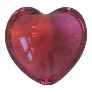 Baccarat Pink Heart Paperweight or Decorative Object For Sale