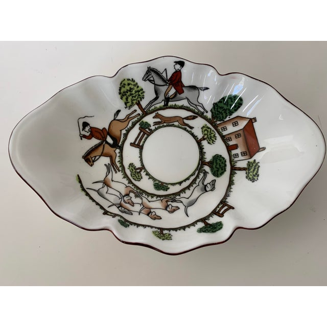 English Staffordshire Hunting Scene Bowl For Sale - Image 3 of 11