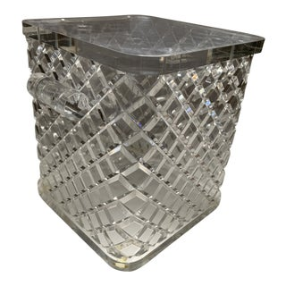 Vintage Faceted Lucite Faceted Ice Bucket Preview