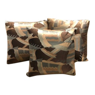 Abstract Accent Pillows - Set of 3 For Sale