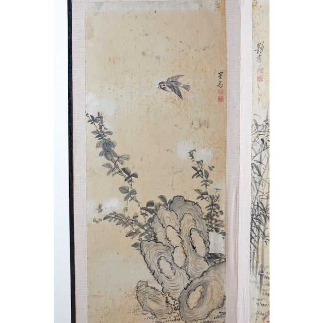 Early 20th Century Korean Six-Panel Screen of Legendary Chinese Figures For Sale - Image 5 of 13