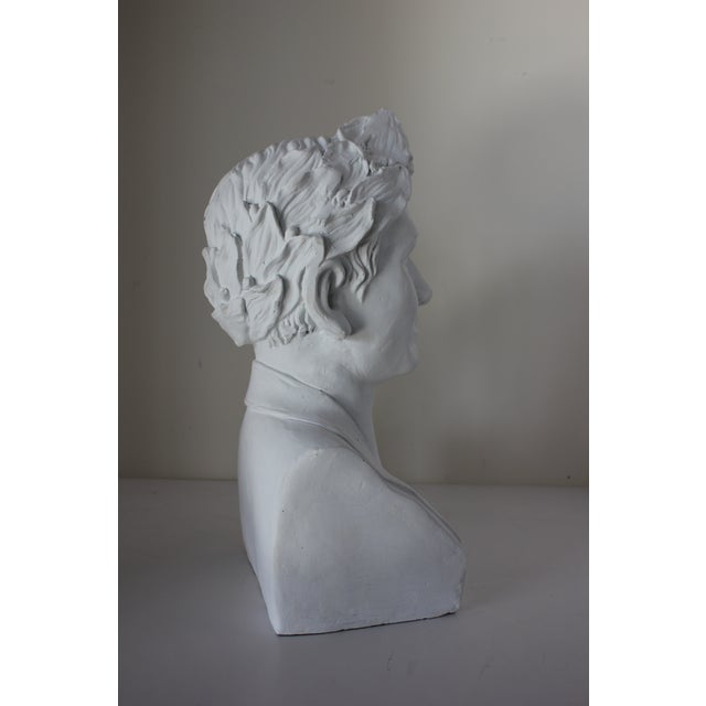 Vintage Male Bust With Laurel Wreath For Sale - Image 4 of 5