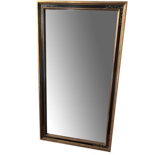 Beveled Mirror With Hand Painted Motif For Sale