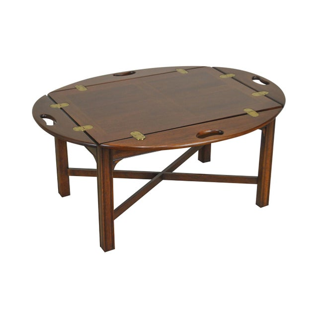 Chippendale Style Mahogany Butlers Coffee Table For Sale - Image 13 of 13