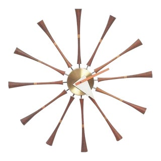 1980s Contemporary George Nelson Inspired Spindle Clock