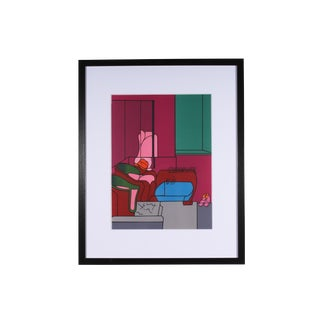 "1970s Pop Art Lithograph From ""Derriere Le Miroir"" No. 188 by Valerio Adami For Sale"