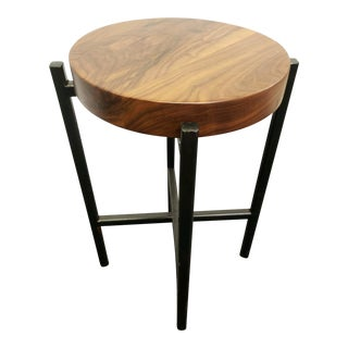 Modern Handcrafted Accent Table For Sale