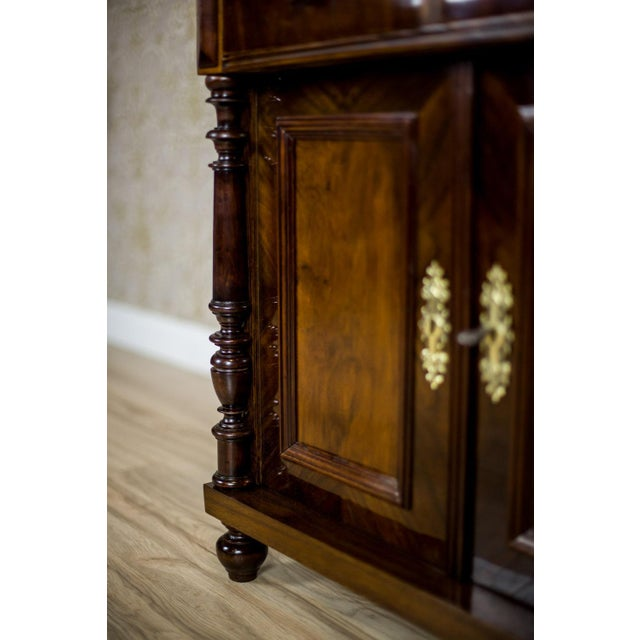 English 19th Century Basin Cabinet Veneer with Walnut For Sale - Image 3 of 13