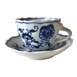 Vintage Meissen Tea Cup With Saucer Teichert Mark For Sale