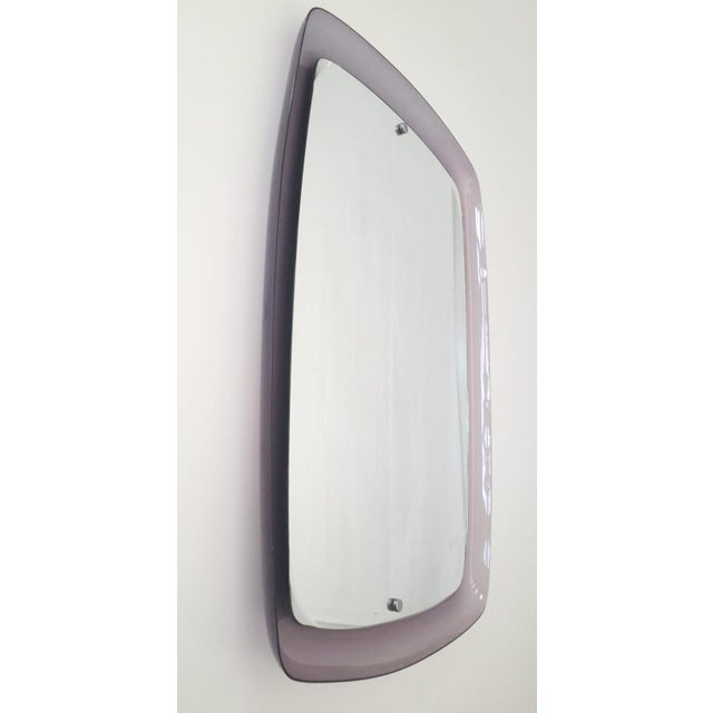 1970s Vintage Amethyst Mirror For Sale - Image 4 of 5